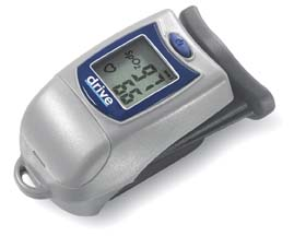Finger Tip Pulse Oximeter with Large LCD Display, Silver ,  Size