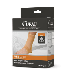 SUPPORT,ANKLE,CURAD,ELASTIC,OPEN HEEL,SMALL,EACH