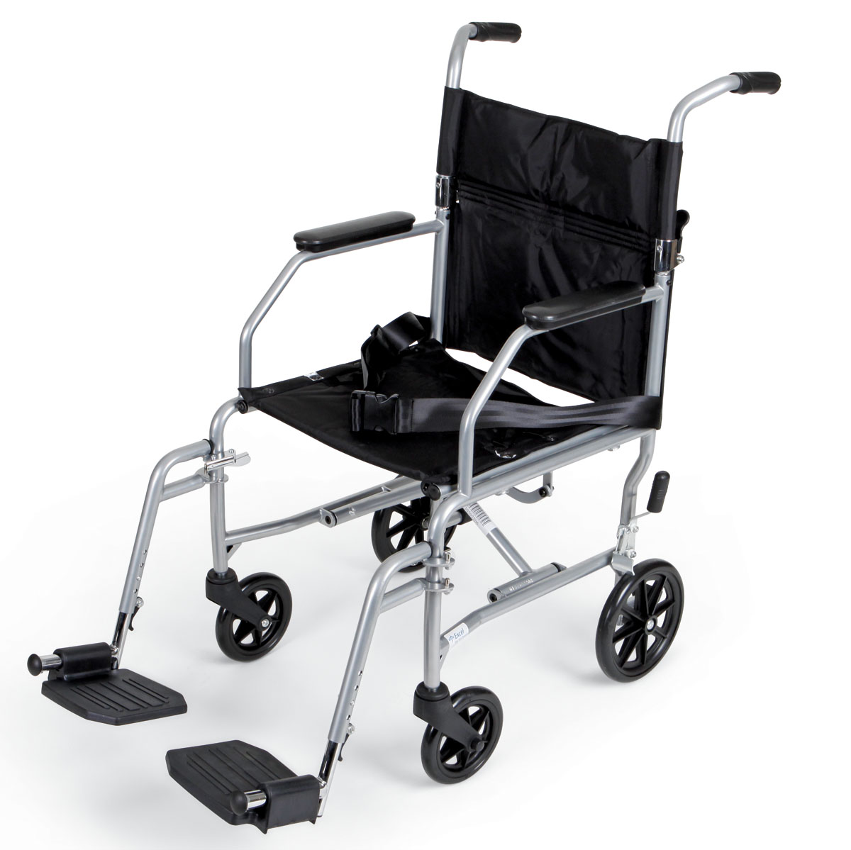 WHEELCHAIR,TRANSPORT,PERM S/A FOOT,BLCK,EA