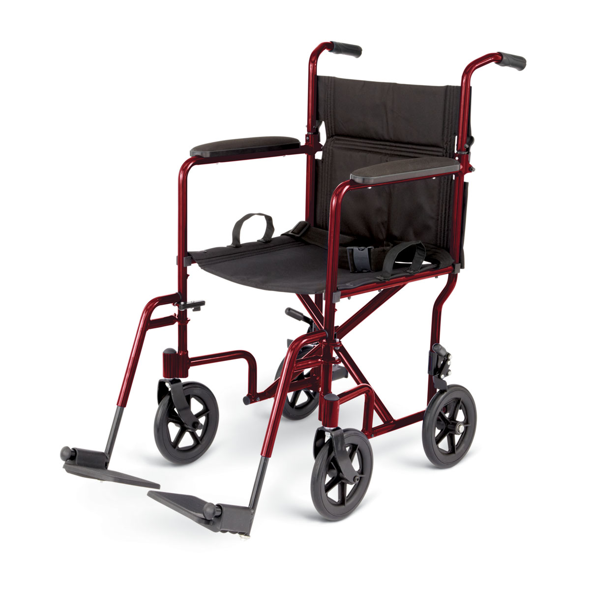 "WHEELCHAIR,TRANSPORT,ALUM,8"" WHEEL,RED,EA"