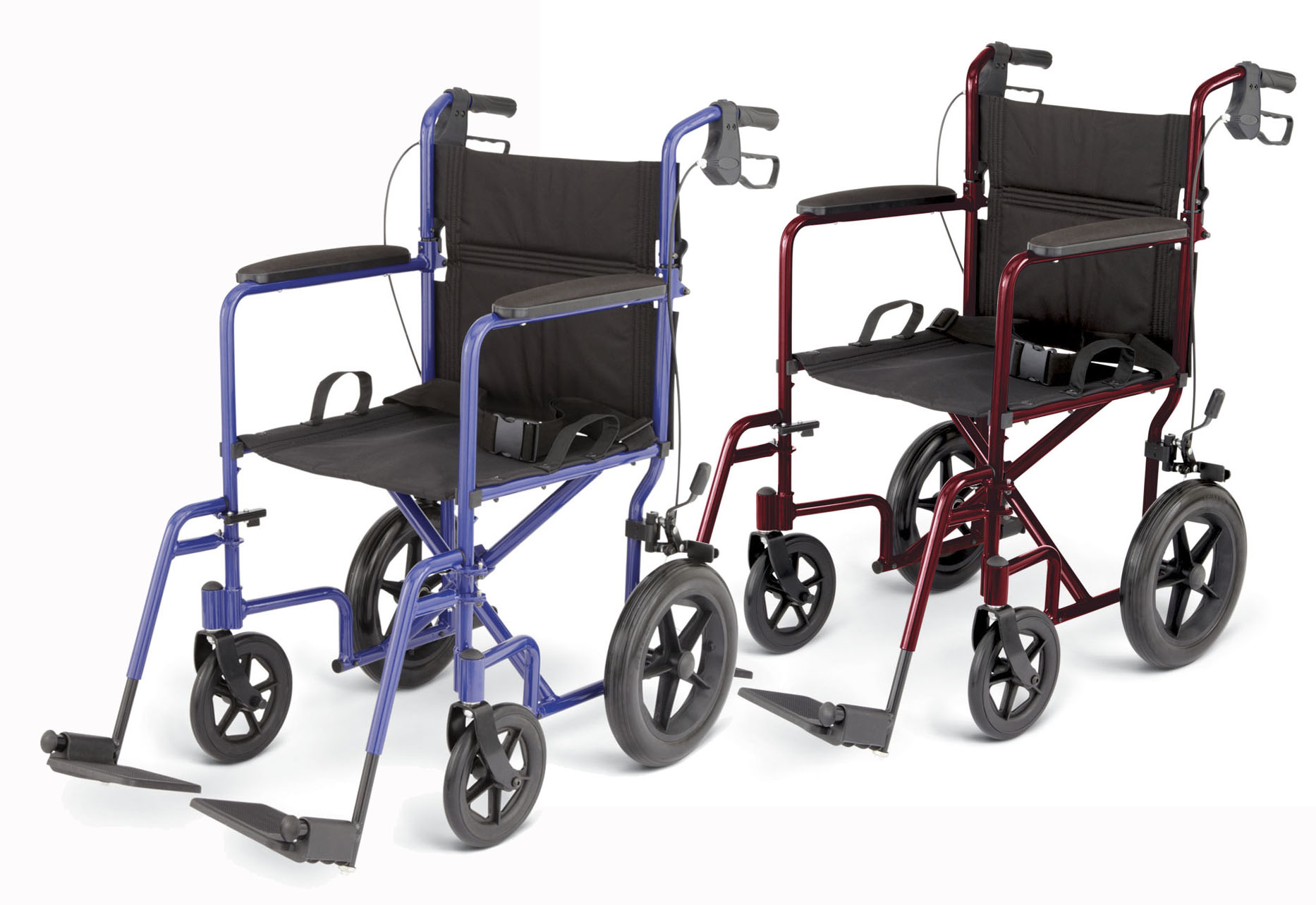"WHEELCHAIR,TRANSPORT,ALUM,12"" WHL,BLUE,EA"