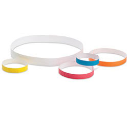 "ID BANDS,WHITE,10""x1"",500/CS"