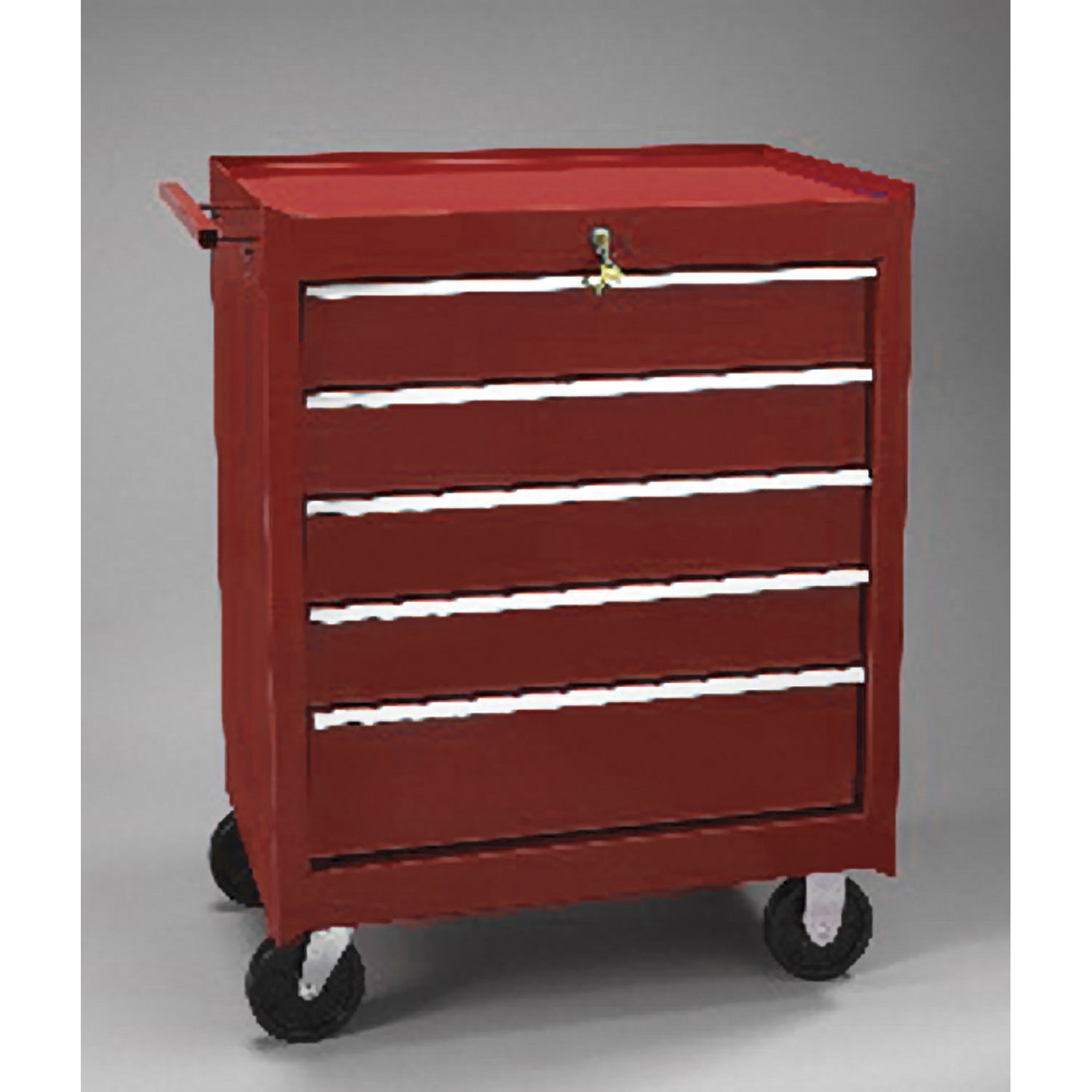 """CART, SUP SAVR, 5 DRW, RED, ONLY TOP DRW KY LOCKS, WT.145LBS., 34 5/8""""h x 18 3/4""""d x 27""""w, EA"""