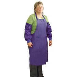 APRON,EX LARGE APRON WITH SLEEVES - BLUE