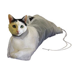SACK,CAT,BS-1 SMALL MESH BATH SACK FOR CATS UP TO 8 LBS.