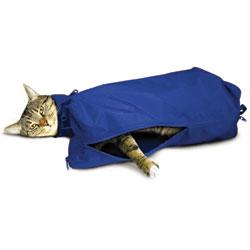 SACK,CAT,JUMBO CAT SACK WITH FULL UNDERSIDE ZIPPER - BLUE