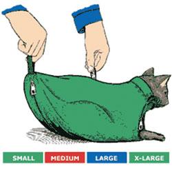 SACK,CAT,4-CAT SACK SET WITH ZIPPER (S,M,L,XL)