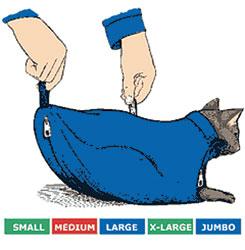 SACK,CAT,5-CAT SACK SET WITH ZIPPER (S,M,L,XL,JUMBO)