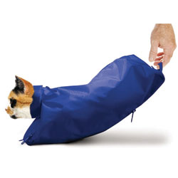 SACK,CAT,LARGE CAT SACK WITH ZIPPER - BLUE