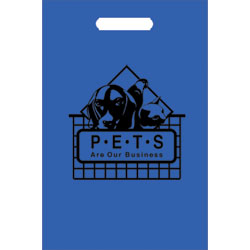 TOTES,100 TOTE BAGS/BLUE-PETS ARE OUR BUSINESS