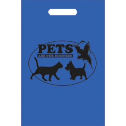 TOTES,100 TOTE BAGS/BLUE-PETS OVAL