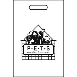 TOTES,100 TOTE BAGS/WHITE-PETS ARE OUR BUSINESS
