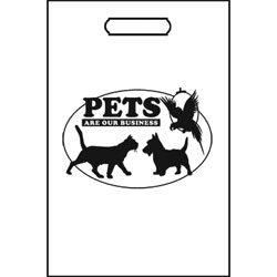 TOTES,100 TOTE BAGS/WHITE-PETS OVAL