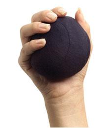 BALL, STRESS BLACK,EA