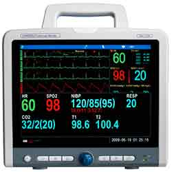 MONITOR, CARDELL MULTIPARAMETER, W/12IN COLOR SCREEN, PRINT &INVAS BP (BP,SPO2, 5 LEAD,ECG,RESP,TEMP