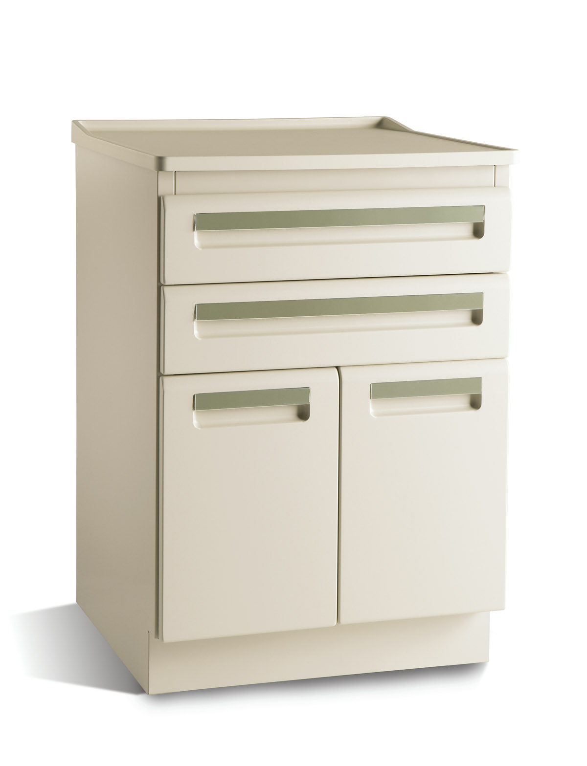 CABINET, TREATMENT, 24x18, 2 DR/2 DRW, FOSSIL GREY