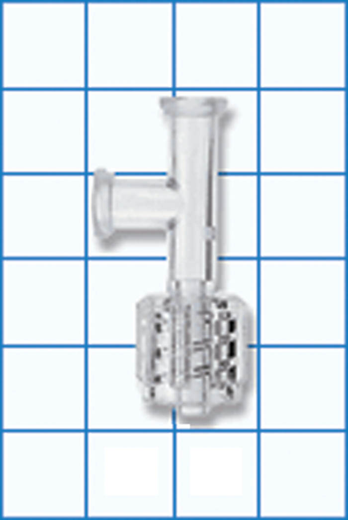 Spin male t fluid connector i v administration