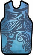 APRON, X-RAY, W/VELCRO, SMALL, TIKI BLUE