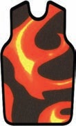 APRON, X-RAY, W/VELCRO, LARGE, RED FLAME