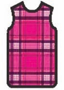APRON, X-RAY, W/VELCRO, SMALL, HOT PINK PLAID