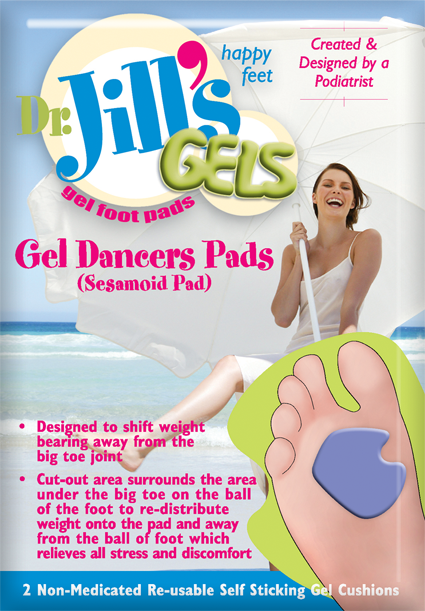 PADS,DANCER'S,GEL,DR JILLS,REG,RIGHT,PAIR