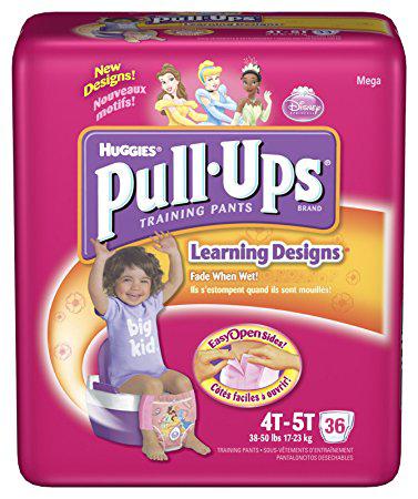 DIAPER,PULL UP,LEARNING DESIGN,4T-5T GIRL,36/BAG