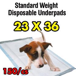 UNDERPAD,STANDARD WEIGHT,23X36,150/CS
